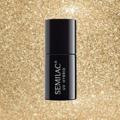 Lakier hybrydowy Semilac 037 - Gold Disco 7ml