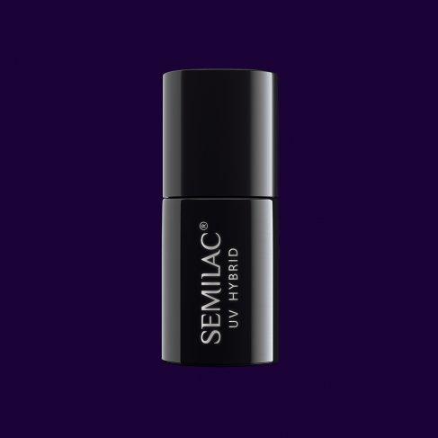 Lakier hybrydowy Semilac 089 - Black Plum 7ml