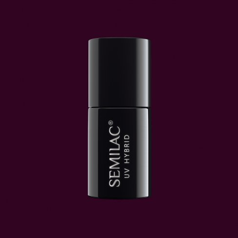 Lakier hybrydowy Semilac 099 - Dark Purple Wine 7ml