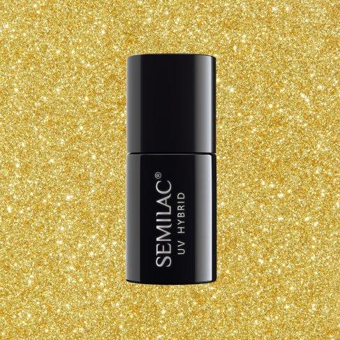 Lakier hybrydowy Semilac 261 - Platinum Yellow Gold 7ml