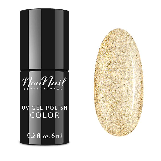 Lakier hybrydowy NeoNail UV Glitter Gold 6 ml