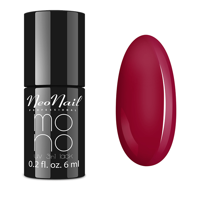 Lakier Mono UV 3w1 Raspberry Red 6 ml